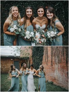 Sage Green Mismatched Bridesmaids Dresses Wedding Inspiration by The Johnsons - Wedding Photographers available for worldwide travel #ravington #theravington #centerton #arkansas #elopement #wedding