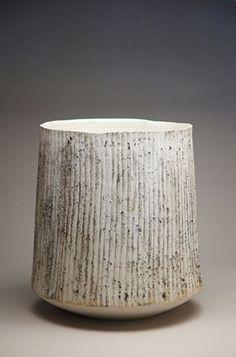 Ani Kasten; Glazed Ceramic 'Tall Winter Landscape Bowl', 2010s.