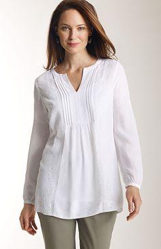 shirts & tops > delicate-details tunic at J.Jill