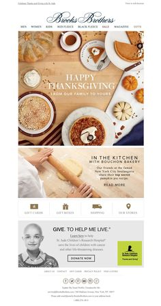 #newsletter #thanksgiving Brooks Brothers 11.2014 To our loyal family and friends