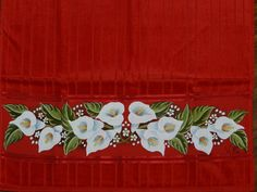 Fabric Paint Designs, Lily Bulbs, Fabric Painting, Stencils, Religion, Hand Painted, Flowers, Bath Towels & Washcloths, Hand Towels