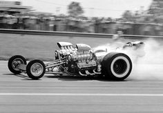 Eddie Hill Twin-Engine Dragster | Twin-engine blown Pontiac - 2 engines, 4 slicks - Eddie built the ...