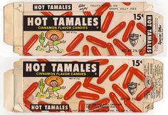 Vintage Hot Tamales box - Hot Tamales Kid doll offer - front and back - 1971 at the movies! Tamales, Sweet Memories, Childhood Memories, Family Memories, Old School Candy, Mike And Ike, Penny Candy, Vintage Candy, Retro Candy