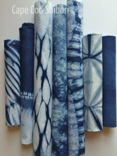 Indigo Dyed Shibori Fabric Pack by CapeCodShibori on Etsy