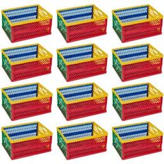 ECR4Kids Large Vented Collapsible. Large- Set Of 6 Crate.