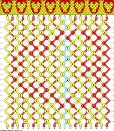 Iron Man Friendship Bracelet Pattern!!