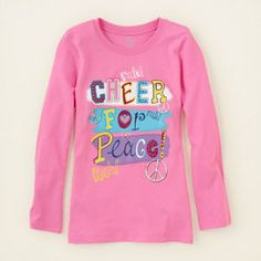 girl - graphic tees - cheer 'n peace graphic tee | Children's Clothing | Kids Clothes | The Children's Place