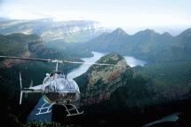 Helicopter Flights - Mpumalanga Helicopter Company. We offer a variety of exhilarating flights that include Gods window and the 1000 m-deep , 30-kilometre-long Blyde River Canyon. Enjoy a bird?s-eye view of the curious Three Rondavels and magnificent views of the Mpumalanga Lowveld.