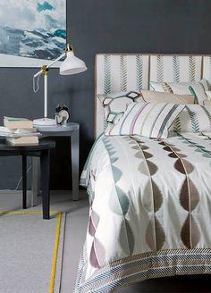 """JOY - Intensive colours, expressive designs and pleasantly cool textures…  """"JOY koleksiyonundaki tüm kumaşlar saf pamuktan üretilmiştir. Zarif dikişleri ve özgün desenleri ile yatak odalarınızda sadeliğin ihtişamını yaşayacaksınız.""""  www.nezihbagci.com / +90 (224) 549 0 777  ADRES: Bademli Mah. 20.Sokak Sirkeci Evleri No: 4/40 Bademli/BURSA  #nezihbagci #perde #duvarkağıdı #wallpaper #floors #Furniture #sunshade #interiordesign #Home #decoration #decor #designers #design #style #accessories…"""