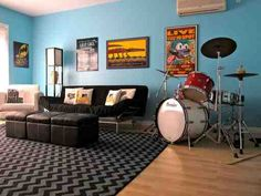 view music room decor bedroom decorating ideas recording home studio small home music room Music Themed Rooms, Home Music Rooms, Music Studio Room, Teen Game Rooms, Boys Game Room, Kids Rooms, Bonus Room Decorating, Decorating Ideas, Hamilton