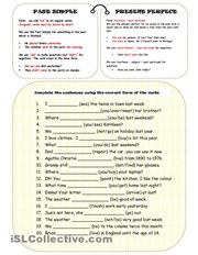 A collection of English ESL Present perfect or past simple tense, Upper-intermediate worksheets for home learning, online practice, distance learning an. Tenses Grammar, Grammar Quiz, English Grammar Worksheets, English Verbs, Grammar And Vocabulary, Grammar Lessons, Verb Tenses, English Lessons, Learn English