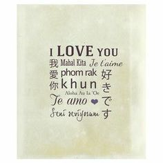"""Gallery-wrapped canvas print with a multilingual typographic motif.   Product: Canvas printConstruction Material: Canvas and MDFDimensions: 20"""" H x 16"""" W"""