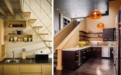 Decofilia Blog | Aprovechando el espacio bajo la escalera (II): Cocinas