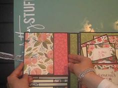 Trifold Double Waterfall Folio - Carta Bella Flora - YouTube