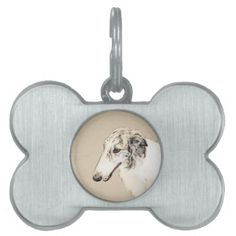 #Borzoi 2 pet tag - #pettag #pettags #dogtag #dogtags #puppy #dog #dogs #pet #pets #cute #doggie