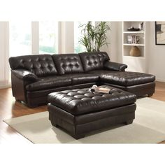 The Nigel sectional sofa collection adds comfort with pillow top seating and tufted cushion on both seat and back. Their sectional sofa is perfect for your living room environment.