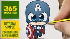 365bocetos - Buscar con Google Avengers Drawings, Avengers Cartoon, Avengers Comics, Art Drawings Sketches Simple, Kawaii Drawings, Cartoon Drawings, Easy Drawings, 365 Kawaii, Captain America