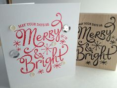 merry and bright - This font
