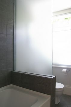 frosted glass natural light no water spots Diy Bathroom Reno, Bathroom Toilets, Bathroom Renos, Laundry In Bathroom, Bathroom Renovations, Small Bathroom, Pool Bathroom, Glass Bathroom, Bathroom Ideas
