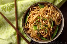 Spicy Peanut Soba Noodles - vegetarian, easily made vegan, and on the table in under 30 minutes.