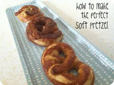 I have been craving soft, chewy pretzels for a while, though I've never attempted them because they seemed so daunting. Pretzel Dough, Soft Pretzels, Onion Rings, Cravings, Rolls, Snacks, Ethnic Recipes, How To Make, Breads
