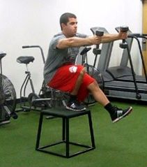 single leg squat progressions