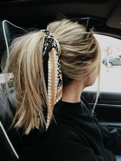 fashion Messy Hairstyles, Pretty Hairstyles, Hairstyle Ideas, Bandana Hairstyles For Long Hair, Fantasy Hairstyles, Headband Hairstyles, Hairstyles 2018, Summer Hairstyles, Quick Easy Hairstyles