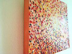 Olejomaľba ma plátne. Abstraktná maľba jesene v zemitých farbách a teplých tónoch. Vďaka technike maľby je vidieť ťahy štetca a krásnu textúru. Maľba je chránená UV lakom a má rozmery 20 x 20 cm. Hodí sa do obývačky alebo chodby.  Abstract oil painting on canvas. Autumn painting in earthy colors and warm tones. Thanks to the technique of painting, there are brush strokes and beautiful textures. Painting is UV-protected and has dimensions 20 x 20 cm. It fits into the living room or hallway.