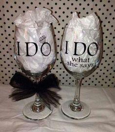 """I do"" wine glasses"
