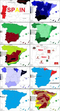 10 ways to divide Spain