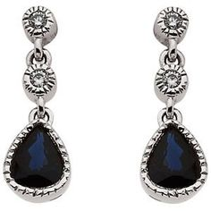 Genuine IceCarats Designer Jewelry Gift 14K White Gold Sapphire & Diamond Earrings. 05.00 X 04.00 Mm Pair Sapphire & Diamond Earrings In 14K White Gold - http://www.wonderfulworldofjewelry.com/jewelry/earrings/genuine-icecarats-designer-jewelry-gift-14k-white-gold-sapphire-diamond-earrings-0500-x-0400-mm-pair-sapphire-diamond-earrings-in-14k-white-gold-ca/ - Your First Choice for Jewelry and Jewellery Accessories