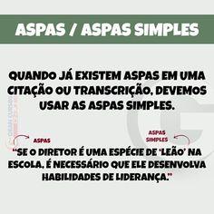 Aspas / Aspas Simples