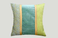 Art Green Grey Gold colors Decorative fabric Throw by svetastyle, $49.00