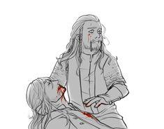 If kili had died first <- Oh look, more Durin feels *cries into oblivion* Hobbit Art, O Hobbit, Hobbit Hole, Tolkien Books, Jrr Tolkien, Fili Et Kili, Power Rangers Samurai, I See Fire, Legolas And Thranduil