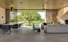 SK Ranch, a private contemporary home in Center Point, Texas by Lake|Flato Architects.
