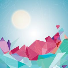 Geometric Landscape - Vector Graphic by DryIcons
