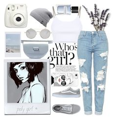 """""""who's that girl?"""" by iandcheshirecat ❤ liked on Polyvore featuring French Kiss, Alexander Wang, Vans, Wandler, The North Face, Givenchy, Fujifilm, Yves Saint Laurent, Casetify and outfit"""