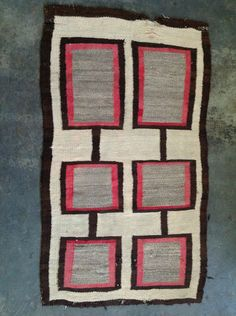 "Vintage Navajo Rug Arizona 60""x35"" 013 | eBay"