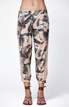 Palm Island Printed Beach Pants