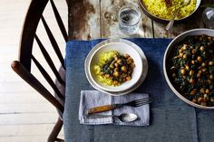 Spicy, Creamy Chickpeas & Spinach (Chana Saag-ish) recipe on Food52