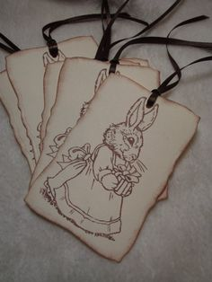 Items similar to Scrapbooking Piece Set of Very Sweet Easter Bunny Bearing Gift Vintage Inspired Scrapbooking Tags Gift and Favor Tags on Etsy Handmade Tags, Scrapbooking, Paper Crafts, Easter, Unique Jewelry, Sweet, Etsy, Beautiful, Vintage