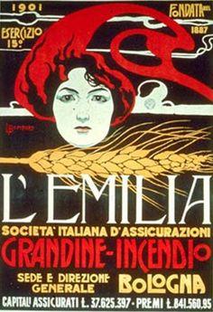 By Luigi Bompard (1879-1953), 1901, L'Emilia Assicurazione, Collezione Salce Treviso. (I)