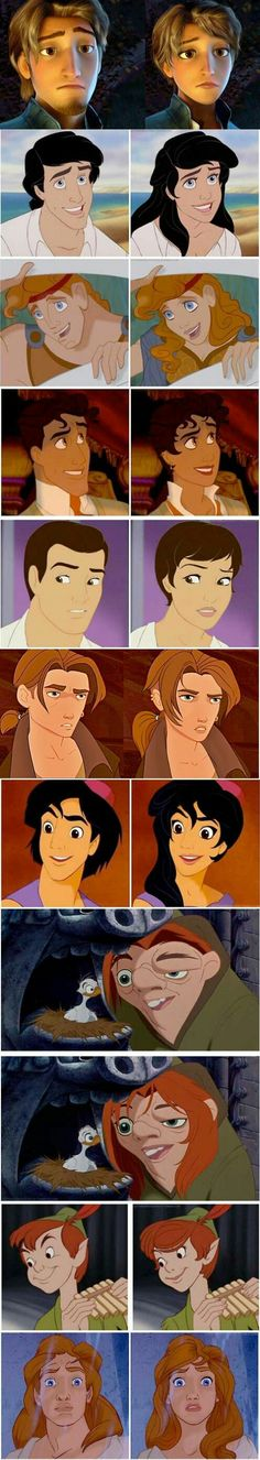 Genderbend disney boys