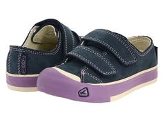Keen Kids Sula Leather Sneakers in Midnight Navy/Regal Orchid