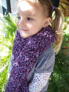 Knit Scarf in Purples  Women/Girls by SheilasBlessings on Etsy, $10.00