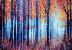 Blue Autumn Morning, 2014 Painting by Marc Todd - PAINTED.ORG.UK