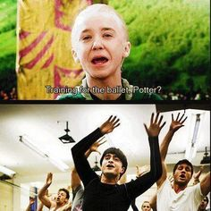 No, Malfoy. << love Daniel in Harry Potter AND How to Succeed in Business Without Really Trying! Harry Potter Fandom, Harry Potter World, Harry Potter Memes, Tom Felton, No Muggles, Yer A Wizard Harry, Drarry, Dramione, Mischief Managed
