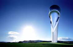 airport control tower, Bilbao, Spain, by Santiago Calatrava