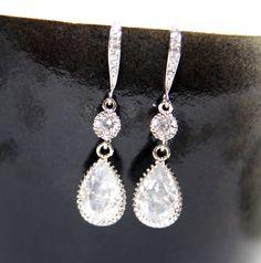 Wedding Teardrop Bridal Earrings