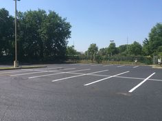 Recent Sealcoating & Line Striping Job by the ABC team! #Sealcoating #LineStriping #ParkingLotMaintenance